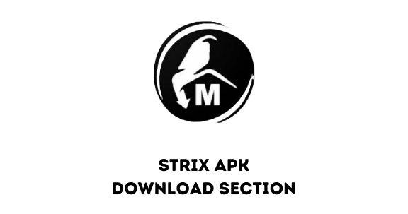 Strix app download section
